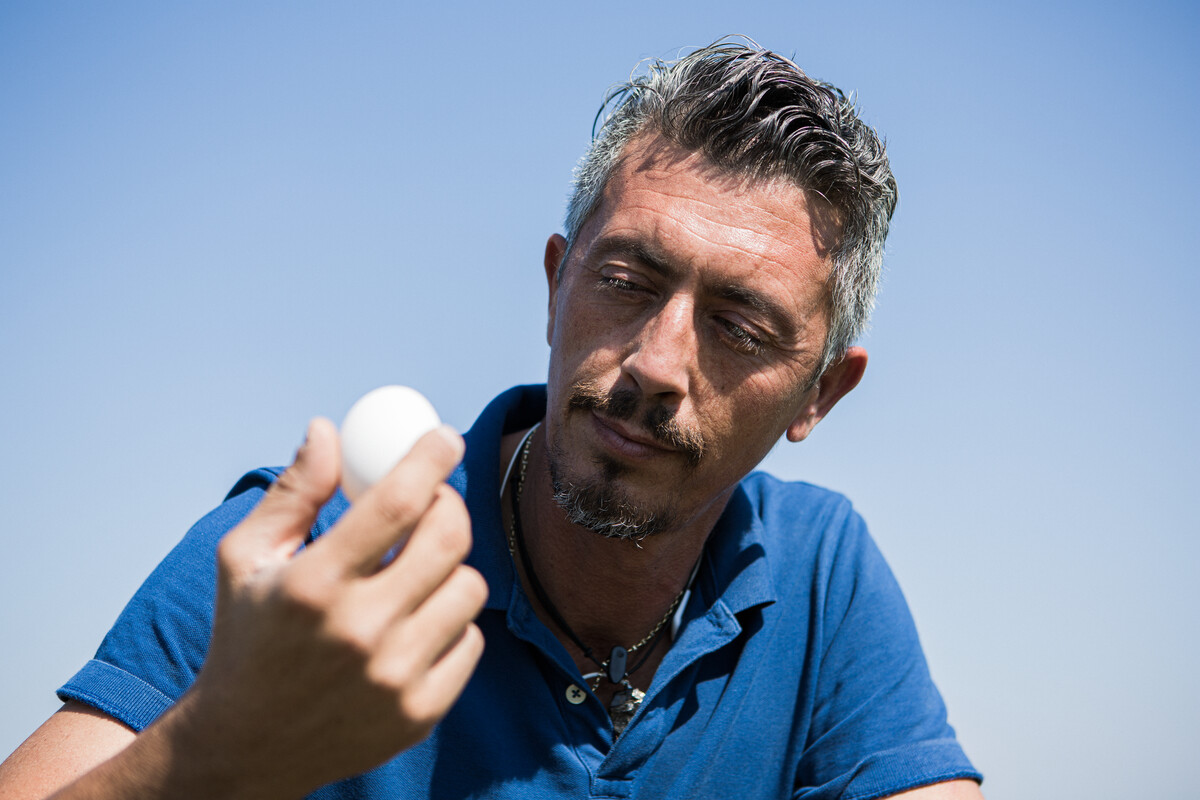 Man with egg